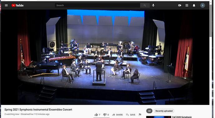 Dallas College Richland Campus Symphonic Istrumental Concert 2 Spring 2021 10